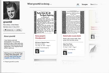 Profile page on Asbury Park Press Archive